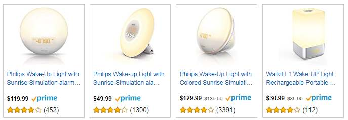 pricerunner wake up light